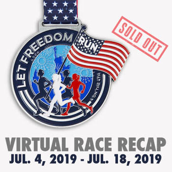 Virtual Race - We Run Free 4 Miles on the 4th (2019)