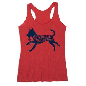 Women's Everyday Tank Top - I'd Rather Be Running with My Dog