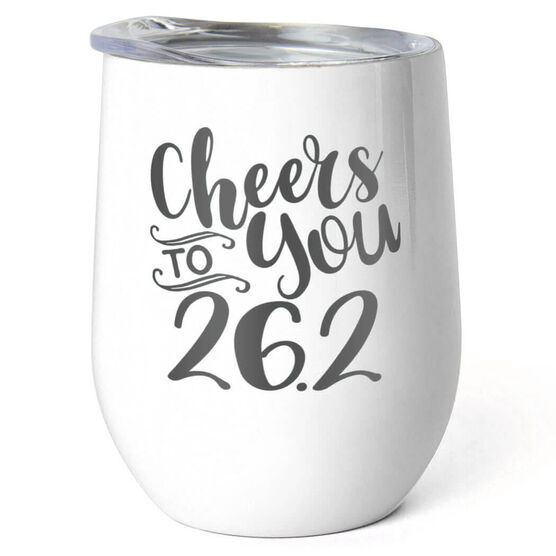 Running Stainless Steel Wine Tumbler - Cheers To You 26.2