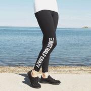 Running Leggings - 13.1 Half Crazy