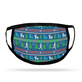 Running Adult Face Mask - Christmas Sweater