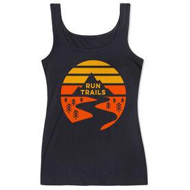Running Women's Athletic Tank Top - Run Trails Sunset