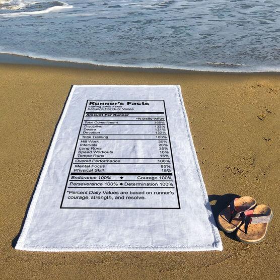 Running Premium Beach Towel - Runners Facts