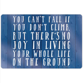 """Running 18"""" X 12"""" Aluminum Room Sign - You Can't Fall"""
