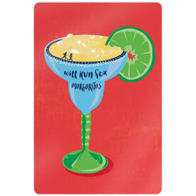 "Running 18"" X 12"" Aluminum Room Sign - Will Run For Margaritas"
