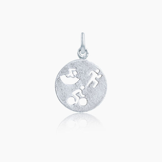 Livia Collection Sterling Silver Matte Tri Figures Charm