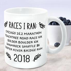 Running Coffee Mug - Races I Ran
