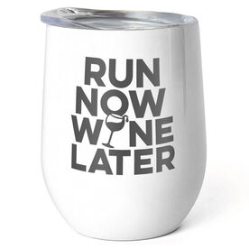 Running Stainless Steel Wine Tumbler - Run Now Wine Later