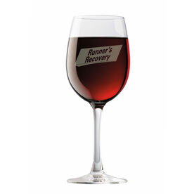 Runners Recovery Wine Glass
