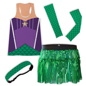 Mermaid With Scales Running Outfit