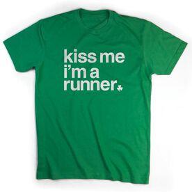 Running Short Sleeve T-Shirt - Kiss Me I am a Runner Saying