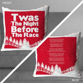 Running Throw Pillow Twas The Night Before The Race