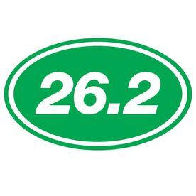 26.2 Oval Running Vinyl Decal