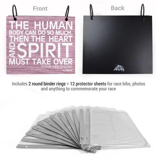 BibFOLIO® Race Bib Album - The Human Body Rustic