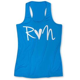 Women's Performance Tank Top - Run Heart