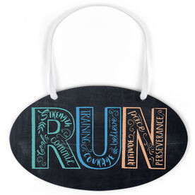 Running Oval Sign - Run With Inspiration ChalkBoard