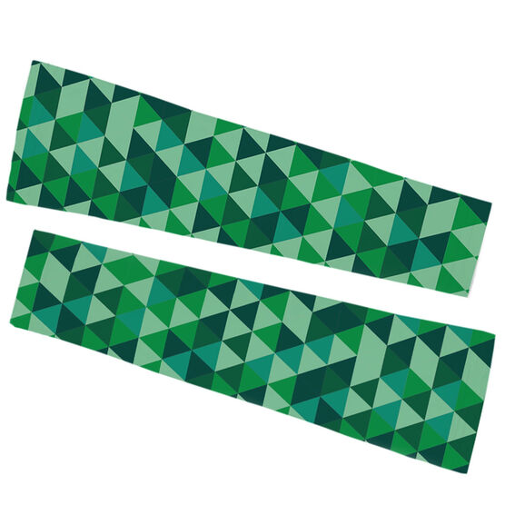 Running Printed Arm Sleeves - Geometric Pattern
