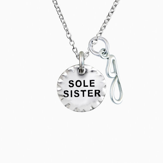 Livia Collection Sterling Silver Scalloped Sole Sister Necklace