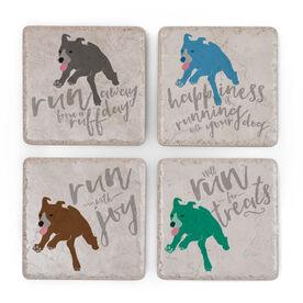 Running Stone Coaster Set of 4 - Dog Run