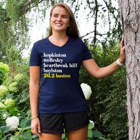 Women's Running Short Sleeve Tech Tee - Run Mantra - Boston