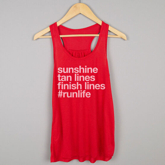 Flowy Racerback Tank Top - Sunshine Tan Lines Finish Lines