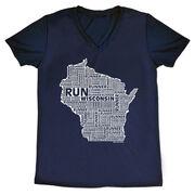 Women's Running Short Sleeve Tech Tee Wisconsin State Runner