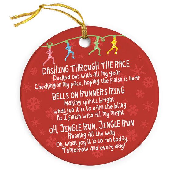 running porcelain ornament jingle run