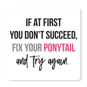 """Running 12"""" X 12"""" Removable Wall Tile - Fix Your Ponytail"""