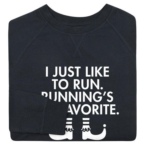 Running Raglan Crew Neck Sweatshirt - Running's My Favorite (Simple)