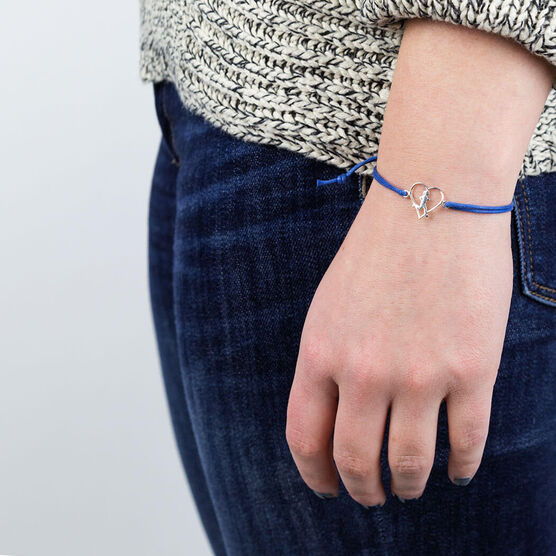 Unstoppable Run Girl Sterling Silver Cord Bracelet