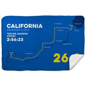Running Sherpa Fleece Blanket - California 26.2 Route