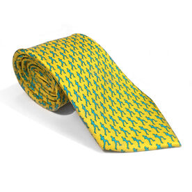 Runner Yellow Silk Tie