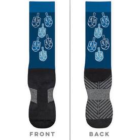 Running Printed Mid-Calf Socks - Runner Girl Dreidels
