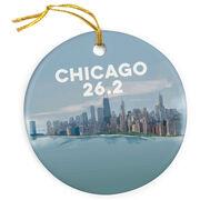 Running Porcelain Ornament - Chicago Sketch