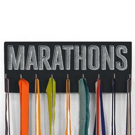 Running Hooked On Medals Hanger Distressed Marathons