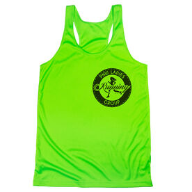 Women's Racerback Performance Tank Top - Pacific Northwest Ladies Running Group Logo (Black)