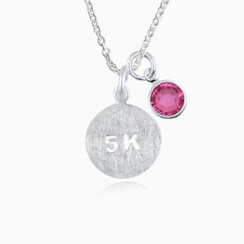 Livia Collection Sterling Silver Matte 5K Necklace