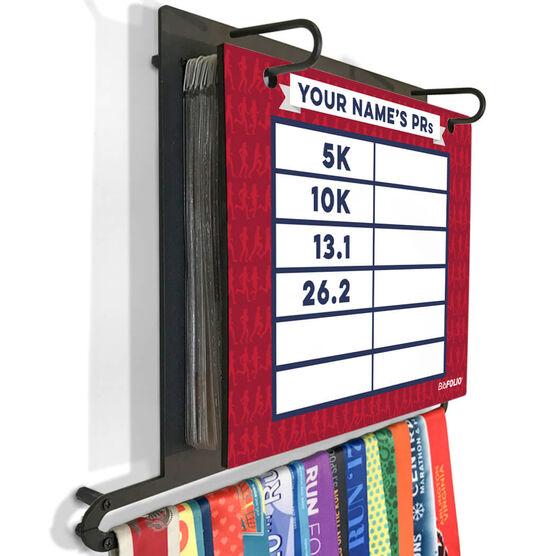 BibFOLIO+™ Race Bib and Medal Display Dry Erase My PRs Marathon Silhouette