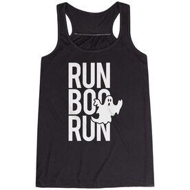 Flowy Racerback Tank Top - Run Boo Run