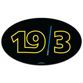 Galaxy 19.3 Oval Car Magnet
