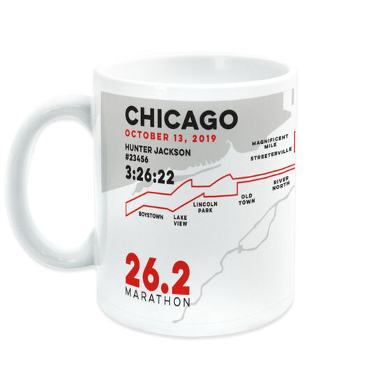 Running Coffee Mug - Personalized Chicago Map