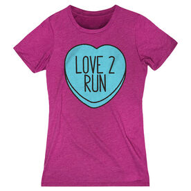 Women's Everyday Runners Tee Love 2 Run Candy