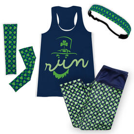 Leprechaun Run Face Running Outfit
