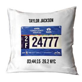 Running Throw Pillow - Personalized Single Bib