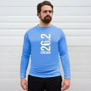 Men's Running Long Sleeve Tech Tee - Chicago 26.2 Vertical
