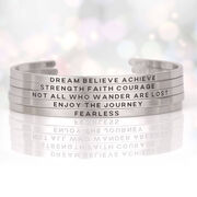 InspireME Cuff Bracelet - Strength Faith Courage