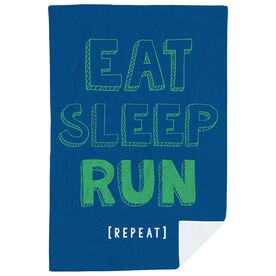 Running Premium Blanket - Eat Sleep Run Repeat