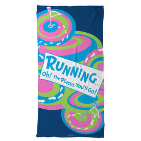 Running Beach Towel Oh The Places You'll Go
