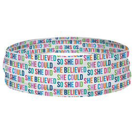 Multifunctional Headwear - She Believed She Could (Colorful)