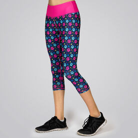 Running Performance Capris With Zipper Pocket - Never Run Alone